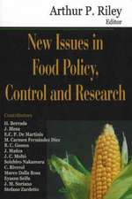 New Issues in Food Policy, Control and Research