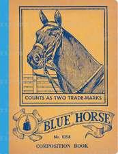 Blue Horse Vintage Notebook