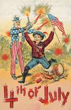 Patriot W/ Fireworks -4th of July Greeting Card
