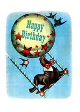 Circus Seal Birthday Greeting Cards [With Envelope]