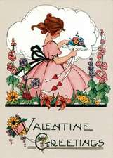 Little Girl with Lacy Bouquet Valentine's Greeting Card [With Envelope]