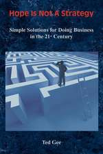 Hope Is Not a Strategy:  Simple Solutions for Doing Business in the 21st Century