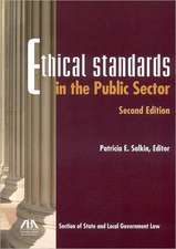 Ethical Standards in the Public Sector