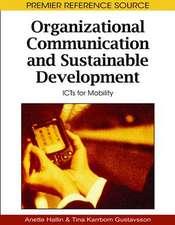 Organizational Communication and Sustainable Development