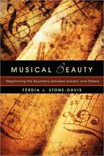Musical Beauty:  Negotiating the Boundary Between Subject and Object
