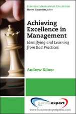 Achieving Excellence in Management
