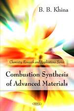 Combustion Synthesis of Advanced Materials