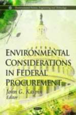 Environmental Considerations in Federal Procurement