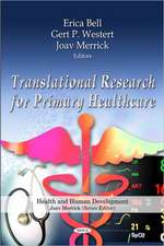 Translational Research for Primary Healthcare