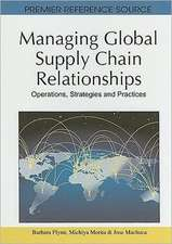 Managing Global Supply Chain Relationships