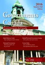 Government Canada:  Summer/Fall 2016