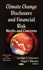 Climate Change Disclosure & Financial Risk