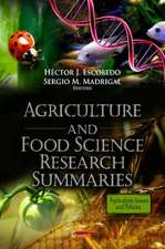Agriculture and Food Science Research Summaries