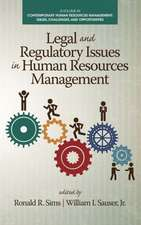 Legal and Regulatory Issues in Human Resources Management (Hc):  Cultural Transitions in Development (Hc)