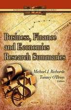 Business, Finance & Economics Research Summaries