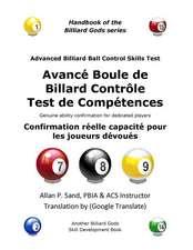 Avance Boule de Billard Controle Test de Competences:  Confirmation Reelle Capacite Pour Les Joueurs Devoues