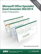 Microsoft Office Specialist Excel Associate 365 - 2019 Exam Preparation