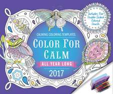 Color for Calm All Year Long 2017:  Box Calendar with Colored Pencils Attached to Base