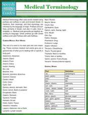 Medical Terminology (Speedy Study Guides
