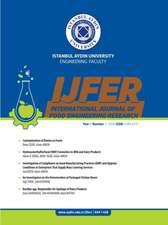 INTERNATIONAL JOURNAL OF FOOD ENGINEERING RESEARCH