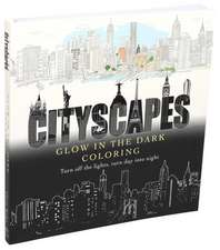 Cityscapes Glow in the Dark Coloring