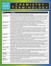 Chemistry Terminology (Speedy Study Guide)