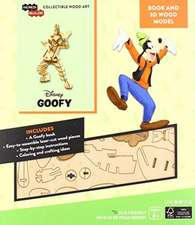 IncrediBuilds: Disney: Goofy Book and 3D Wood Model