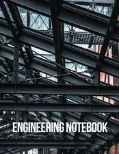 Engineering Notebook: Half Graph 5x5 & Half Wide Ruled Paper