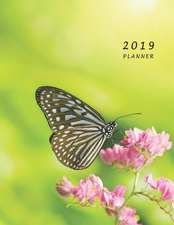 2019 Planner: Large Weekly and Monthly Planner with Coloring Pages (Butterfly)