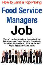 How to Land a Top-Paying Food Service Managers Job