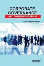 Corporate Governance and Entrepreneurship