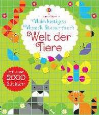 Mein lustiges Mosaik-Stickerbuch: Welt der Tiere