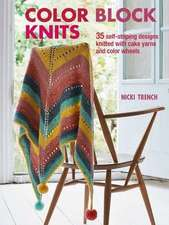 Color Block Knits: 35 self-striping designs knitted with cake yarns and color wheels