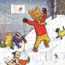 Classic Rupert advent calendar (with stickers)
