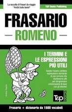 Frasario Italiano-Romeno E Dizionario Ridotto Da 1500 Vocaboli