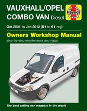 Vauxhall/Opel Combo Diesel Van (Oct 2001 To Jan 2012) 51 To 61