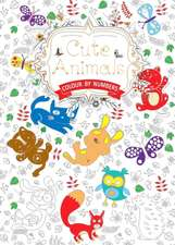 Cute Animals (Colouring Book, by Numbers): Colour by Numbers