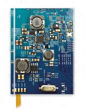 Circuit Board Blue (Foiled Journal)