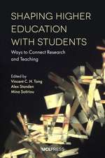Shaping Higher Education with Students: Ways to Connect Research and Teaching