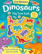 Felt Stickers Dinosaur Play Scene Book