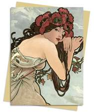 Summer (Mucha) Greeting Card: Pack of 6