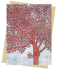 Janine Partington: Copper Foil Tree Greeting Card: Pack of 6