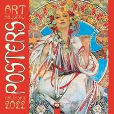Art Nouveau Posters Wall Calendar 2022 (Art Calendar)