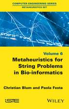 Metaheuristics for String Problems in Bio–informatics