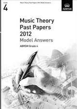 Music Theory Past Papers 2012 Model Answers, ABRSM Grade 4
