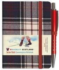 Waverley S.T. (S): Dress Mini with Pen Pocket Genuine Tartan Cloth Commonplace Notebook