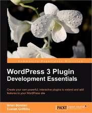 Wordpress 3 Plugin Development