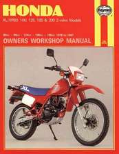 Honda XL-Xr 80, 100, 125, 185 and 200 Owners Workshop Manual, No. M566:  1978-1987