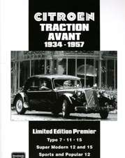 Citroen Traction Avant Limited Edition Premier 1934-1957:  Owners Edition