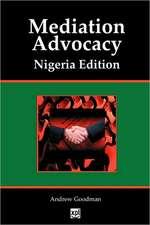 Mediation Advocacy Nigeria Edition